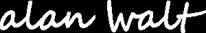 alan Walt logo - white